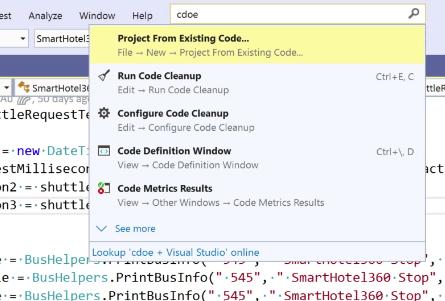 Visual Studio 2019 search