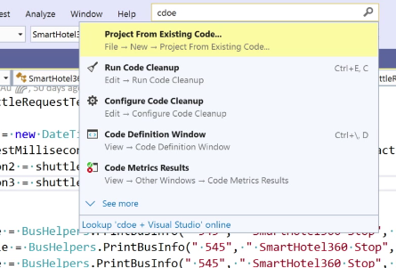 Visual Studio 2019 search