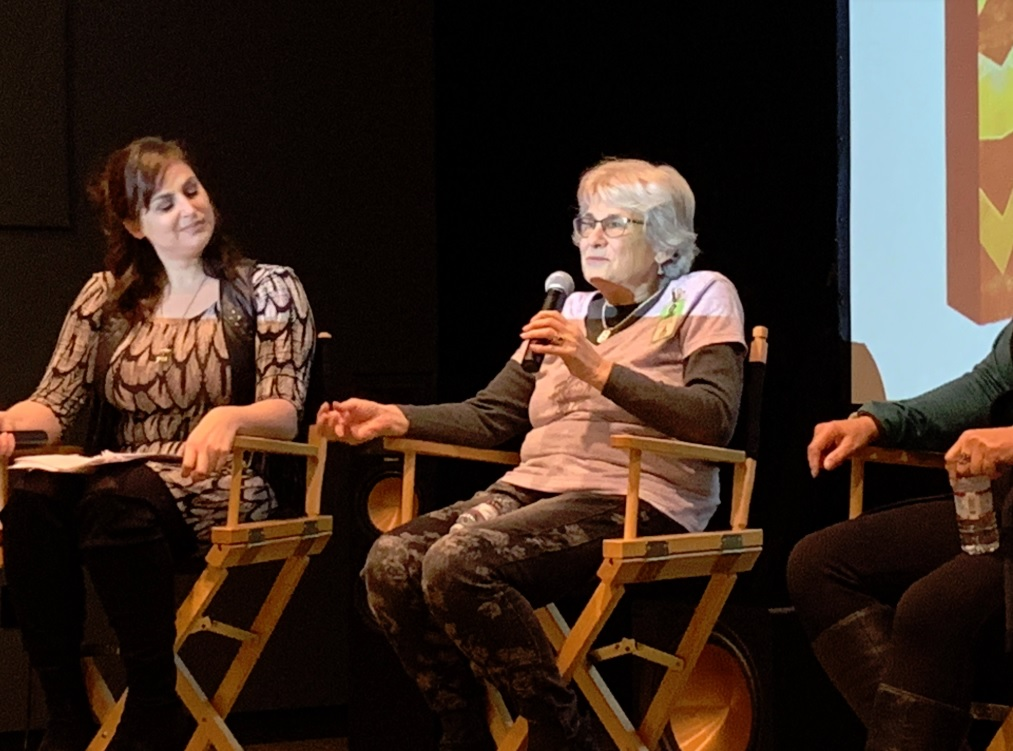 Meagan Marie of Crystal Dynamics (left) and Carol Kantor, formerly of Atari.