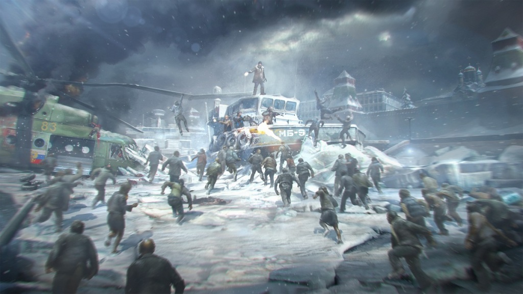 The World War Z video game features fast zombies.