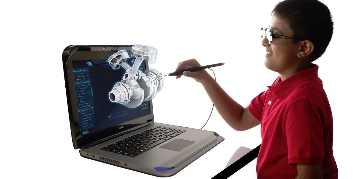 Zspace lets users engage with VR/AR content on a laptop.