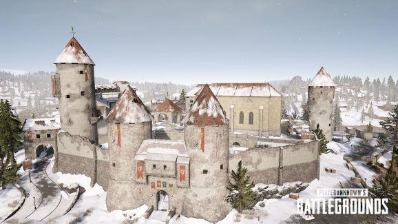 A castle in PUBG's Vikendi map.