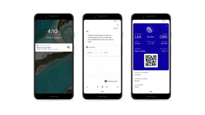 Google Assistant gets flight check-in feature and Maps