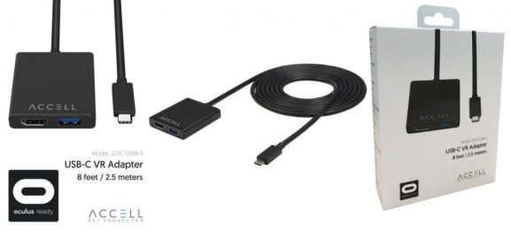 Accell's new USB-C VR adapter.