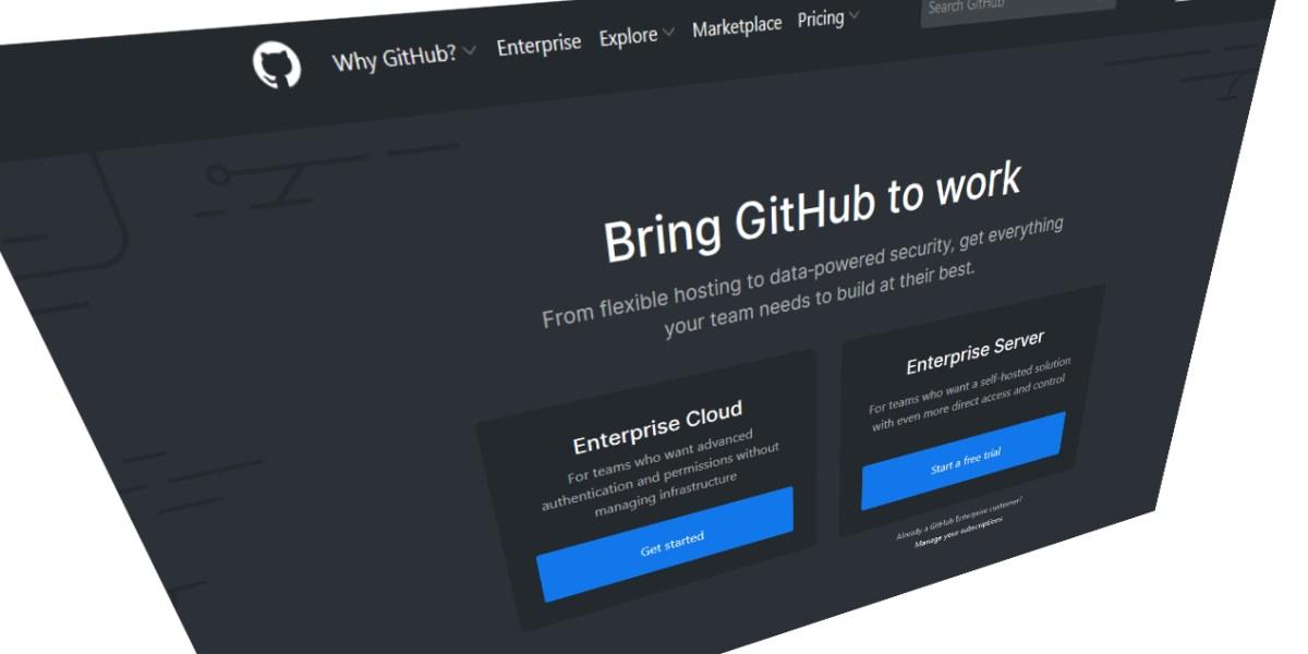 GitHub Enterprise Homepage
