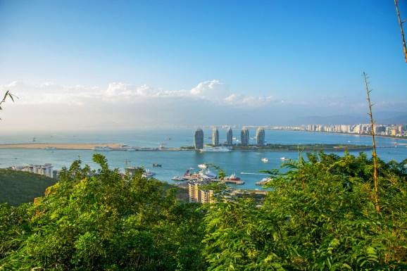 Panorama of the city of Sanya in Hainan.