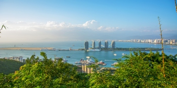 Panorama of the city of Sanya in Hainan.