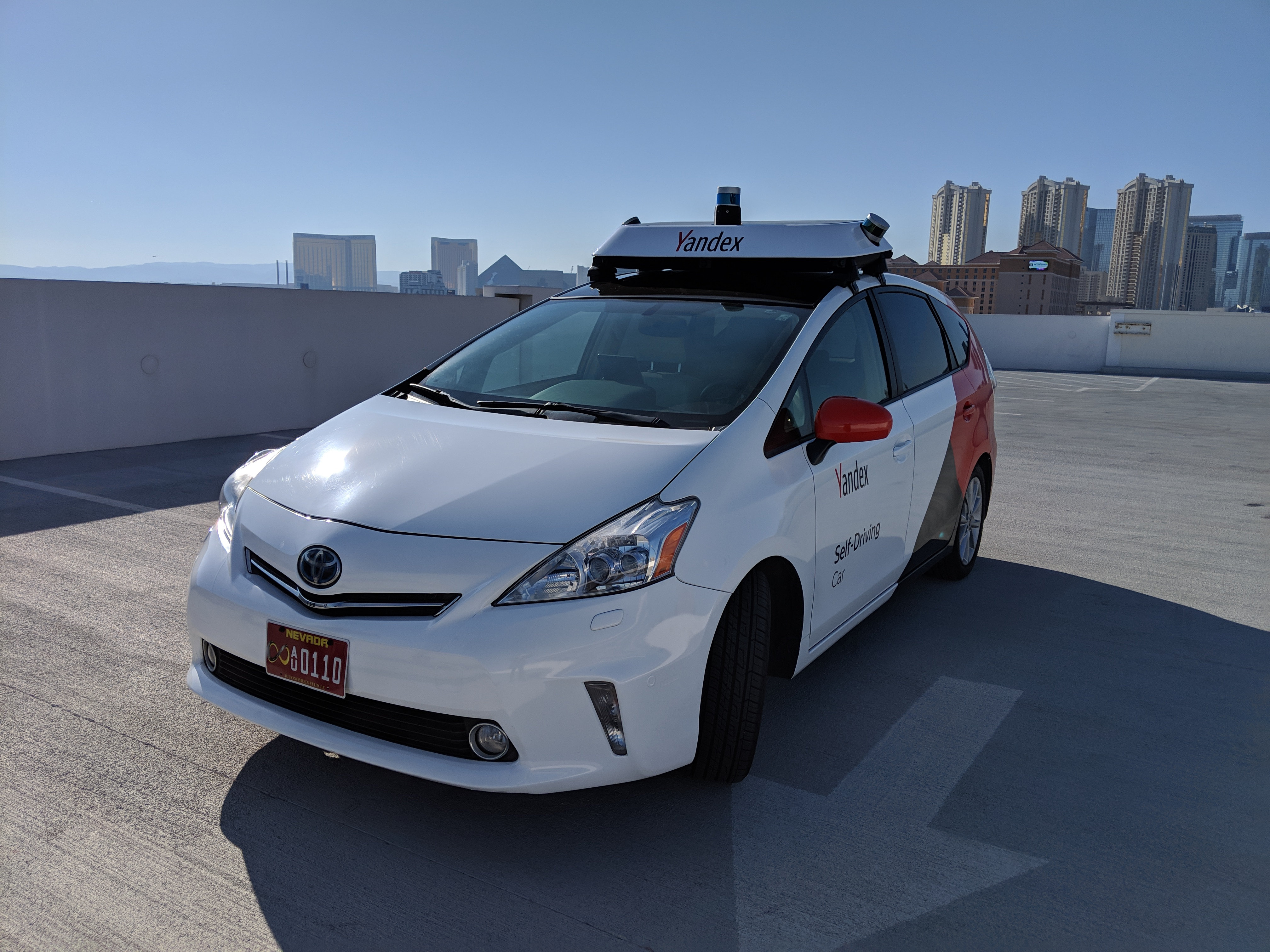 Yandex Demonstrates Self-Driving Car on the Streets of Las
