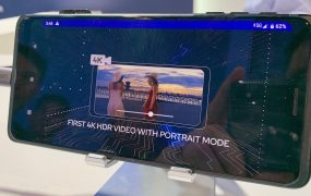Qualcomm's live 5G smartphone demonstration at the 2019 CES.