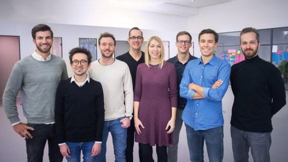 Personio Management Team (left to right): Hanno Renner, Arseniy Vershinin, Roman Schumacher, Christian Weisbrodt, Martina Ruiß, Michael Kuntz, Jonas Rieke, Oliver Manojlovic.