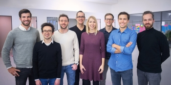 Personio Management Team (left to right): Hanno Renner, Arseniy Vershinin, Roman Schumacher, Christian Weisbrodt, Martina Ruiß, Michael Kuntz, Jonas Rieke, Oliver Manojlovic.