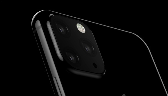 A render of the 2019 triple-lens iPhone XS Max.