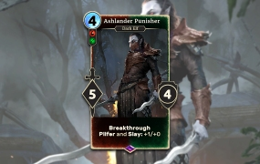 The Elder Scrolls: Legends gives a new, special card as a reward each month. This one hit in December.