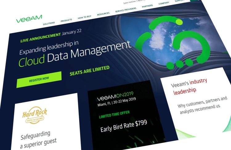 Veeam homepage