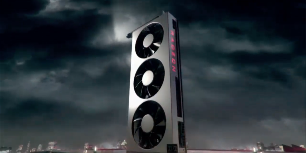 The Radeon VII video card from AMD.