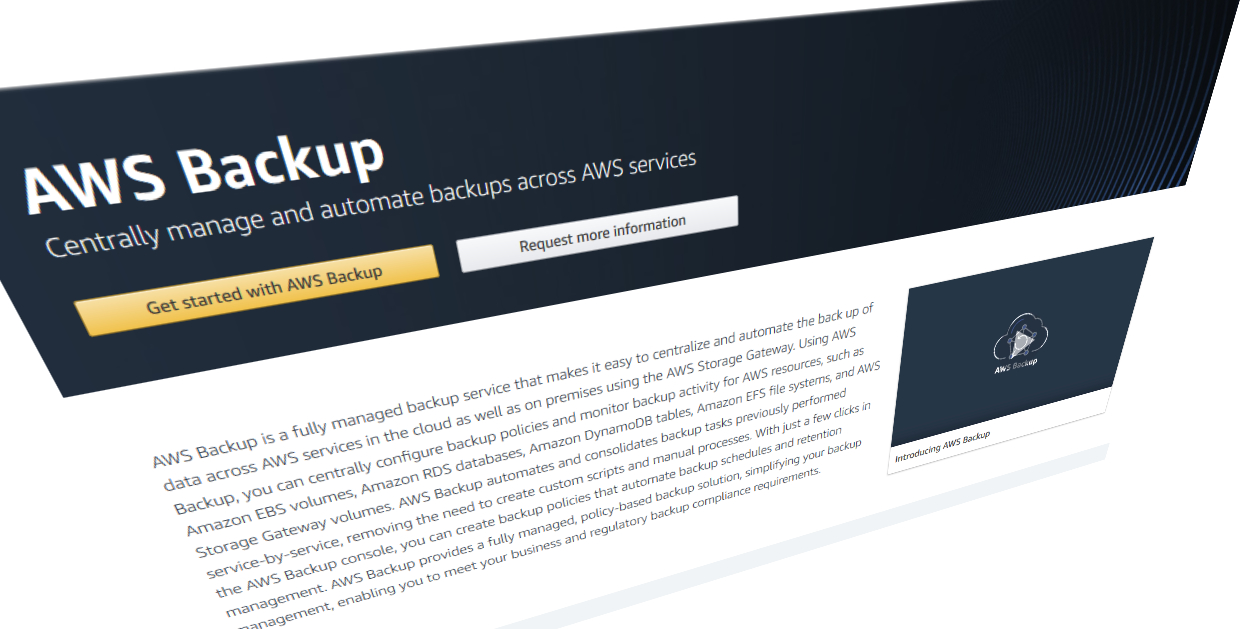 venturebeat.com - Paul Sawers - Amazon's AWS launches full-managed data backup service