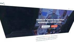 Patreon homepage