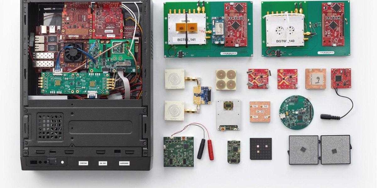 Soli hardware prototypes July 2014 - May 2015.