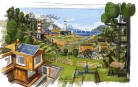Eco artwork.