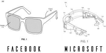 Facebook and Microsoft patent filings offer dueling visions of small AR headsets