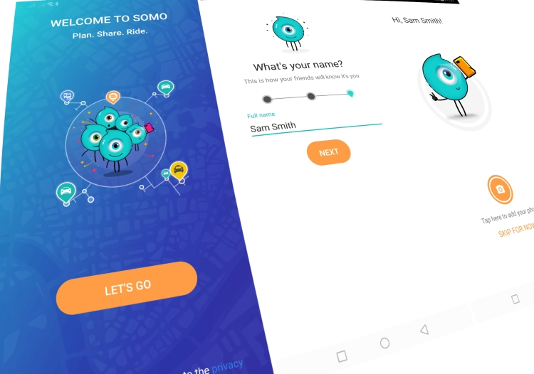 Here's SoMo app