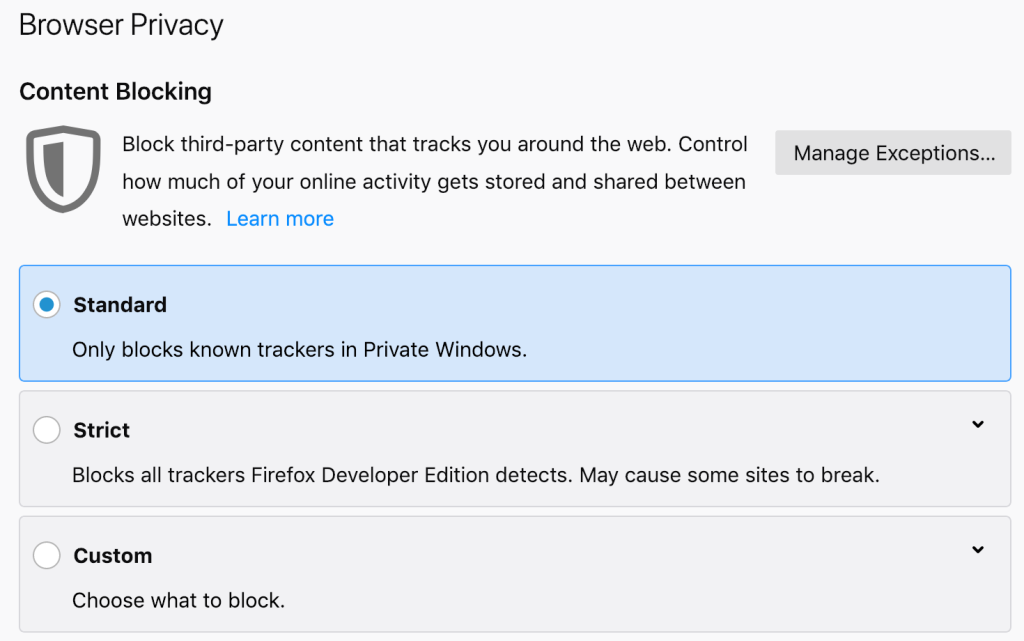Firefox 65 arrives with Content Blocking controls, WebP, and