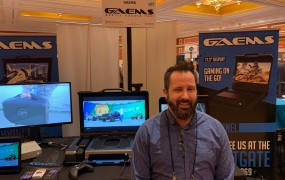 GAEMS cofounder John Smith at Showstoppers at CES 2019.