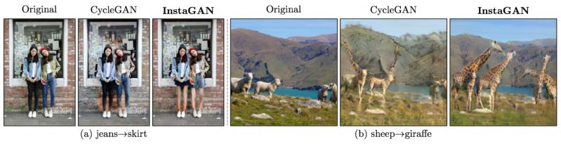 This neural network can swap sheep for giraffes, jeans for