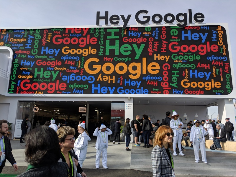 Google Assistant space at CES 2019