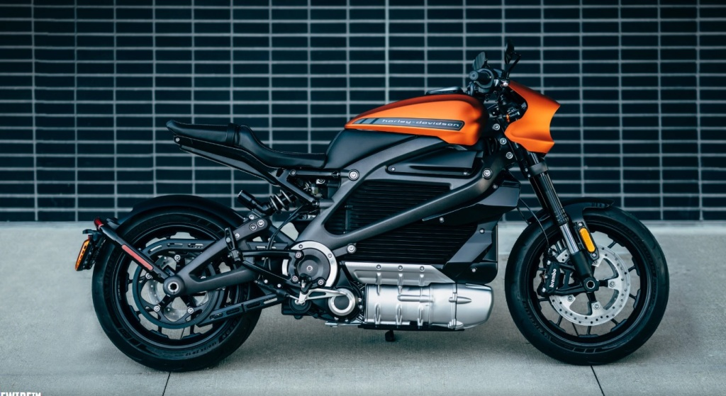 Harley Davidson's Livewire electric motorcycle.
