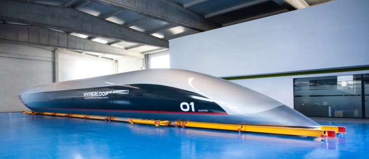 HyperloopTT unveils its passenger Hyperloop capsule.