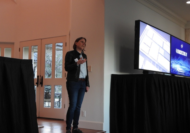 Becky Loop, Intel fellow, at Intel Architecture Day in December.