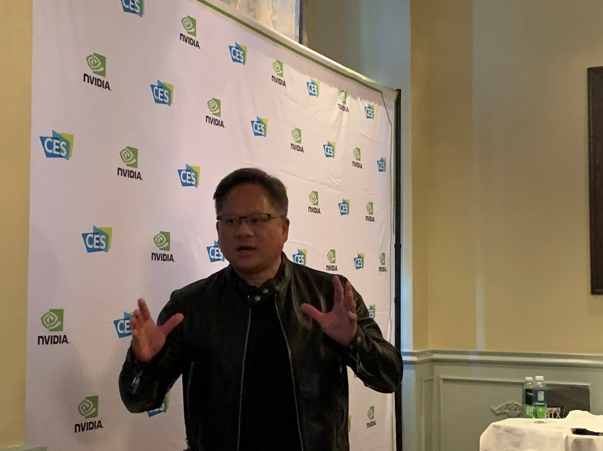 Jensen Huang goes off script in Las Vegas.