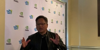 Jensen Huang goes off script in Las Vegas.