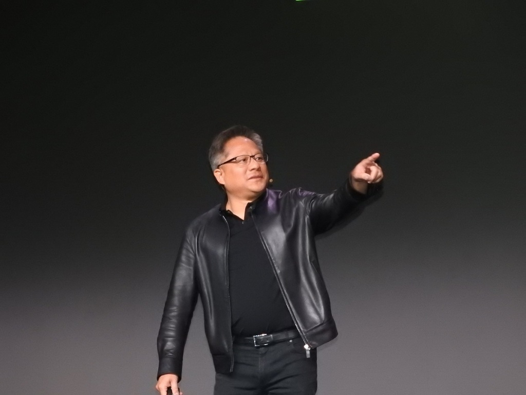 Jensen Huang, CEO of Nvidia, at CES 2019.