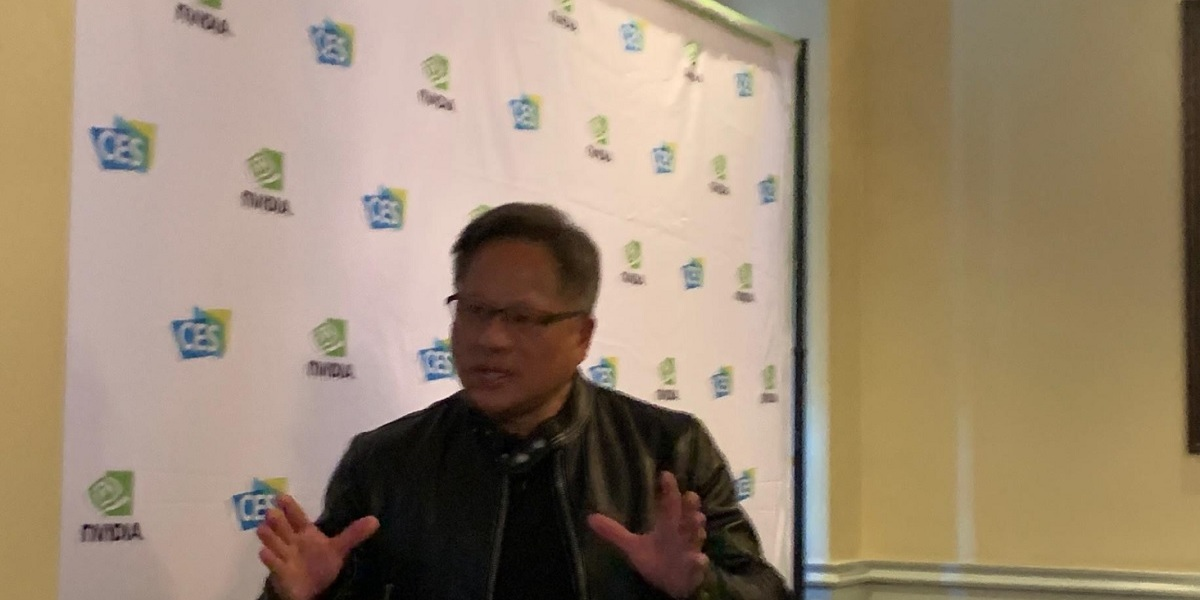 Jensen Huang, CEO of Nvidia, at press event at CES 2019.