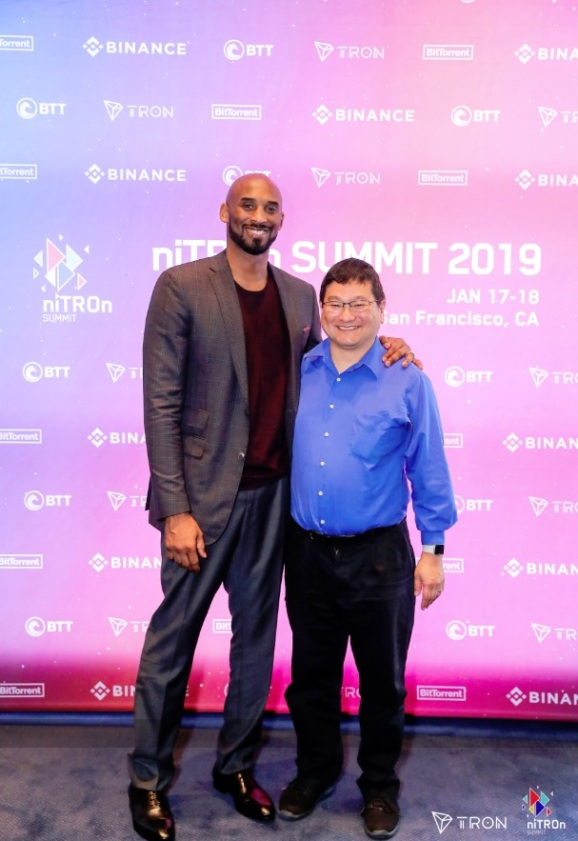 Hanging out with Kobe Bryant at the Tron conference. Twins, separated at birth.