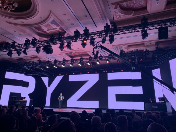AMD introduced the third-generation of Ryzen chips, for shipment in mid-2019.