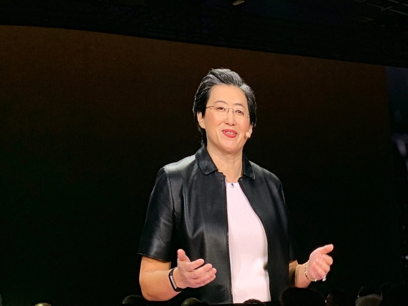 Lisa Su, CEO of AMD, at CES 2019 keynote.