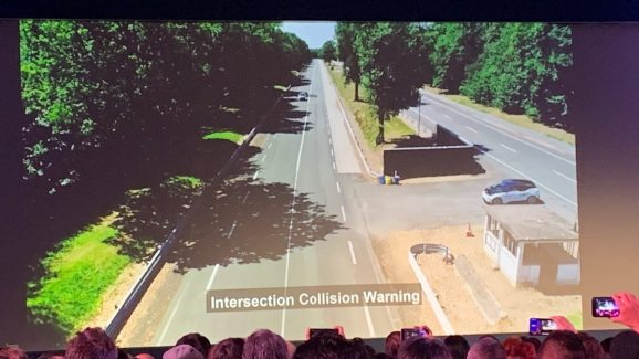 C-V2X can warn you about potential collisions.