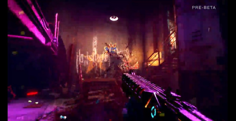 Somewhere, there's a blood splatter here in Rage 2.