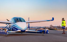 Boeing's Autonomous Passenger Air Vehicle (PAV) prototype is shown during an inaugural test flight, in Manassas, Virginia, U.S., January 22, 2019.