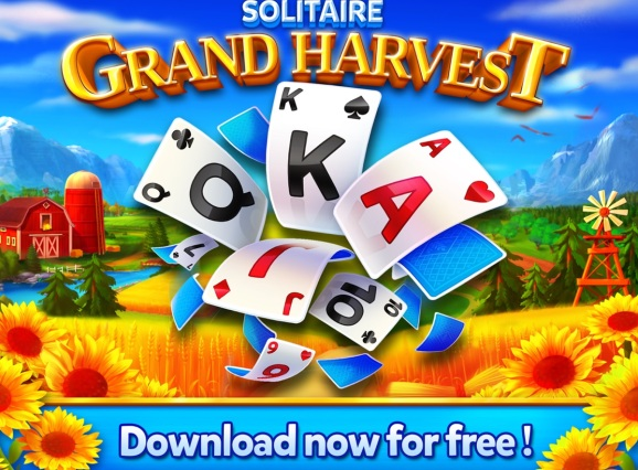 Supertreat's Solitaire Grand Harvest game.