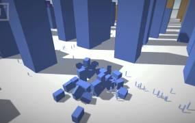 A demo of Improbable's tech.