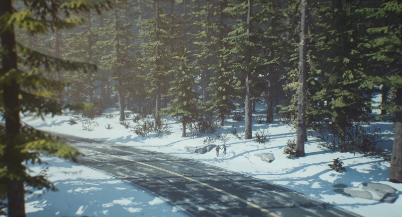Thankfully, we don't have to walk in the woods for long in Life is Strange 2 Episode 2.