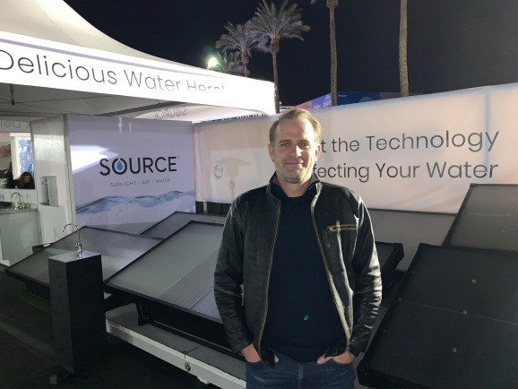 Cody Friesen, CEO of Zero Mass Water, has Source panels that extract water from air.