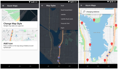 Microsoft introduces Azure Maps Android SDK in preview, new