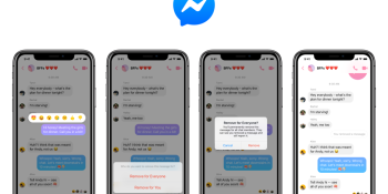 Facebook Messenger finally gets an 'unsend' feature