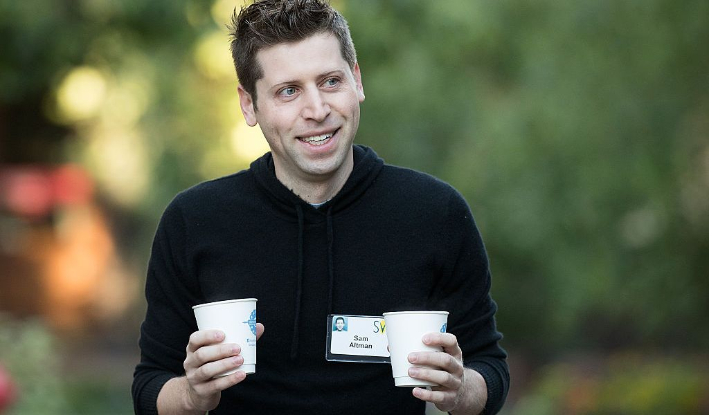 Sam Altman, president of Y Combinator and co-chairman of OpenAI, attends the annual Allen & Company Sun Valley Conference, July 8, 2016 in Sun Valley, Idaho. Every July, some of the world's most wealthy and powerful businesspeople from the media, finance, technology and political spheres converge at the Sun Valley Resort for the exclusive weeklong conference.