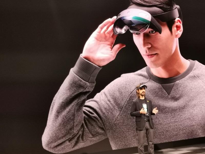 Microsoft's Alex Kipman with the new HoloLens 2.
